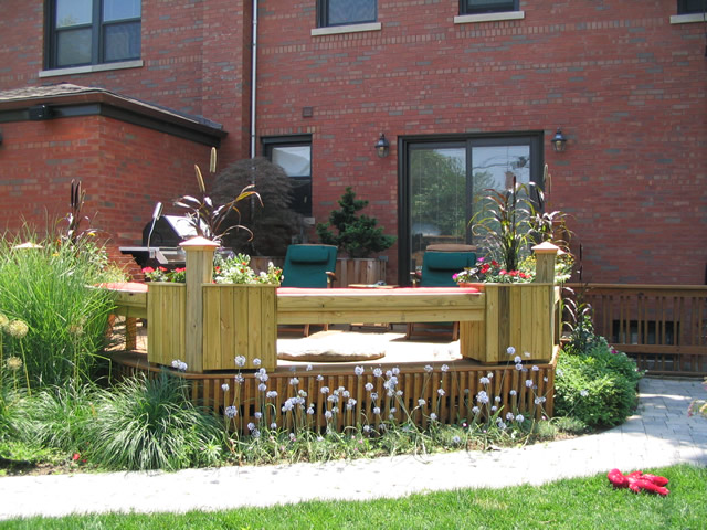 Rinda west designs before after for Garden decking before and after
